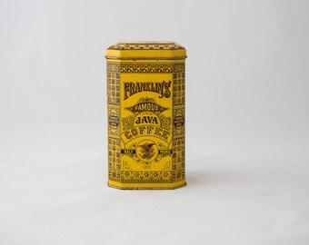Franklin's Famous Java Coffee Tin