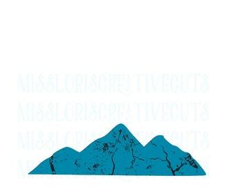 Mountain distressed SVG Cut file  Cricut explore file t-shirt decal wood signsscrapbook vinyl decal wood sign t shirt cricut cameo