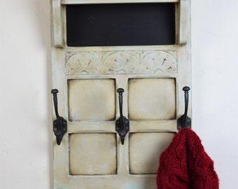 Handmade coat rack with shelf