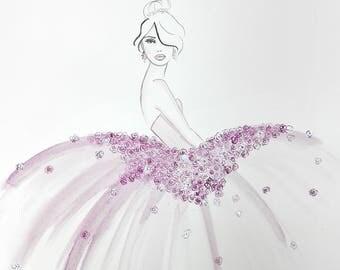 Violetta - Original Watercolor