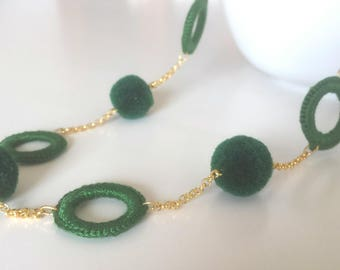 Collar verde minimalista, boho y veraniego.