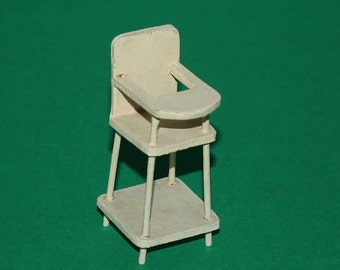 Vintage Dolls House Pit A Pat High Chair 1930's