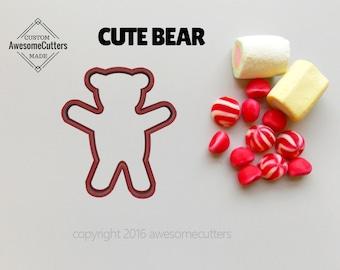 Bear Cookie Cutter. teddy bear Cookie Cutter. Teddy Cookie Cutter.