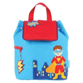 27c57bd969 Blue Superhero Quilted Backpack with Free Monogram