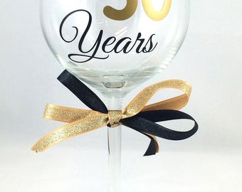 50th Birthday Wine Glass, Cheers to 50 Years Wine Glass, Custom Birthday Wine Glass, Anniversary Wine Glass, Birthday Wine Glass,