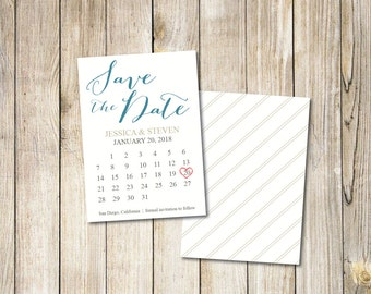 items similar to save the date calendar postcard mark the calendar sample on etsy. Black Bedroom Furniture Sets. Home Design Ideas