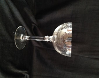 """Fostoria 'Christiana' Champagne / Tall Sherbert; Delicately Etched, Thin Fine Crystal Glass - 5 5/8""""; New Vintage"""