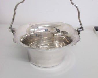 Sugar Bowl / Jam Pot / Small Bride's Basket - GWS EPNS 8034 - 10cm High - Vintage