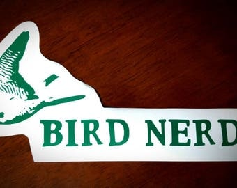 Vinyl Decal - Bird Nerd Falcon