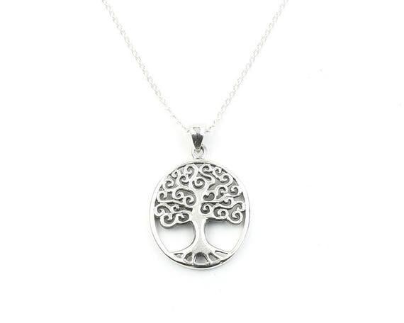 Sterling Silver Tree of Life Necklace, Family Tree, Organic, Yoga Jewelry, Meditation, Spiritual, Boho, Bohemian, Gypsy, Festival, Hippie