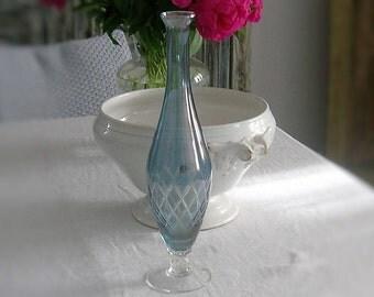 vase en cristal etsy. Black Bedroom Furniture Sets. Home Design Ideas