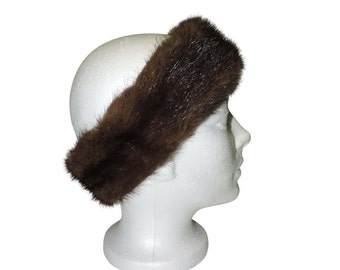 Recycled real fur headband