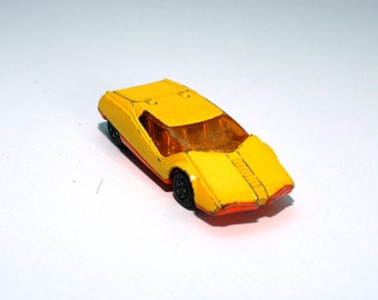1973 matchbox car , vintage matchbox , no 33 Datsun 123x , Lesney products , metal car , Collectible Car Matchbox