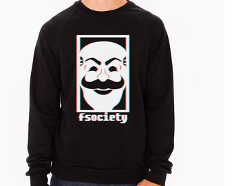 Mr Robot fsociety Sweater, hoodie, pullover, evilcorp, f society