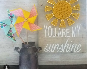Your Are My Sunshine String Art