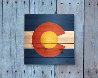 Colorado / Colorado Magnet / Colorado Flag / Magnet / Colorado Gifts / Colorado Art / Fridge Magnet / Refrigerator Magnet / Gifts Under 5