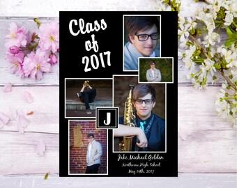 graduation invitation graduation photo card graduation invite photo collage graduation party personalized graduation invitation with photo - Personalized Graduation Invitations