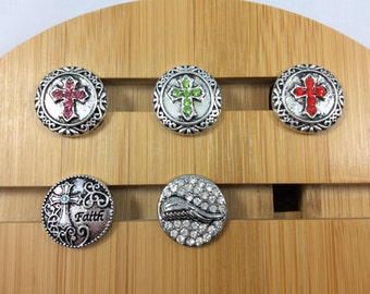 Cross Snap Charms/Faith, Angel Wings Snap Charms for Snap Jewelry.  Fits 18-20mm Ginger snaps, Noosa, Magnolia & Vine, Chunk, Faith#2