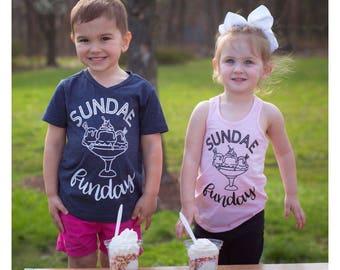 Sundae Funday, Sunday Tshirt, Sunday Shirt, Sundae Shirt, Sundae Tshirt, Ice Cream Shirt, Ice Cream Tshirt, Sprinkles Shirt, Ice C