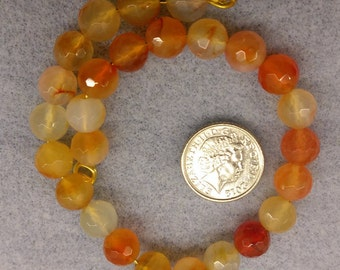 8mm round faceted Carnelian beads semi precious beads