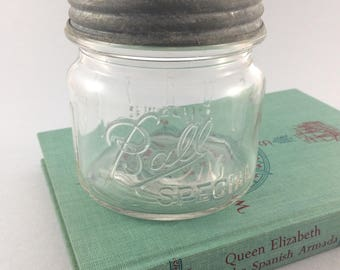 Special Ball Jar - Clear Ball Jar - Clear Wide Mouth Ball Jar - Zinc and Glass Lid - Pint Ball Jar - Pint Mason Jar - Ball Mason Jar