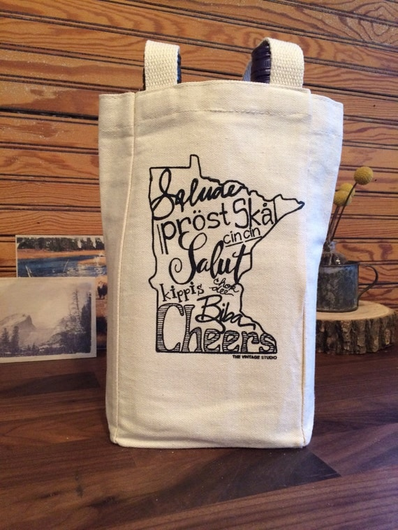 Minnesota Small Tote/Wine Bag with Folding Divider