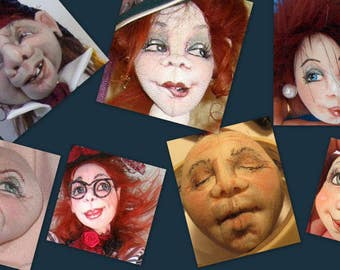 SM915 - Needle-sculpting, drawing and colouring faces! Doll Making Tutorial