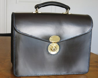 Lined Bridle Leather Briefcase