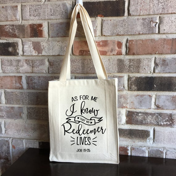 Bible bag my redeemer lives bible tote bag easter gift bible bag my redeemer lives bible tote bag easter gift christian gift small tote bag small canvas bag mothers day gift for mom negle Image collections