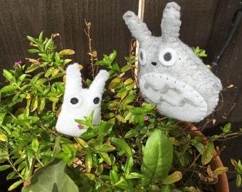 Totoro and Chibo Totoro Pocket Plushie set