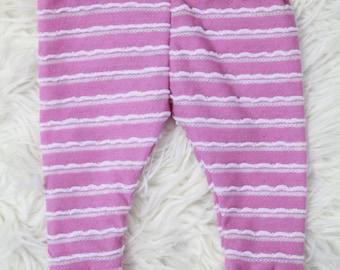 Baby Toddler Purple White Stripe Leggings