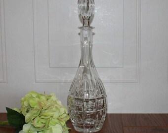 Vintage Crystal Decanter, Vintage Barware, Wedding Gift, Gift For Her, Gift For Him, Vintage Crystal, Wedding