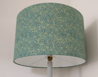 Liberty Green Floral 40cm Drum Lampshade