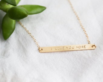 Skinny Bar Necklace - Horizontal Bar - Personalized Jewelry - Gold Bar Necklace - Personalized Nana Jewelry - Mom Necklace with Kids Names
