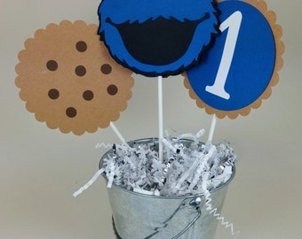 Cookie Monster, Cookie Monster Decor, Sesame Street Party, Cookie Monster Birthday Party