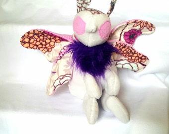 Lavender floral Moth plush