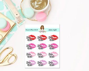 Date Night Stickers