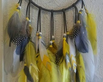 Gray and Yellow Dreamcatcher