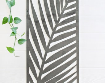 Palm Leaf Metal Art Panel  |  jungalow tropical bohemian decor