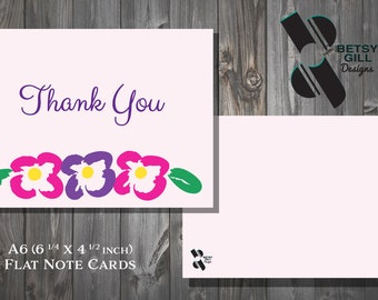 Thank You Note Cards with Flowers