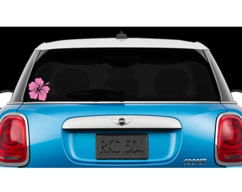 Hawaiian  Hibiscus Flower - Car Decal, laptop decal, window decal- BF-D1078