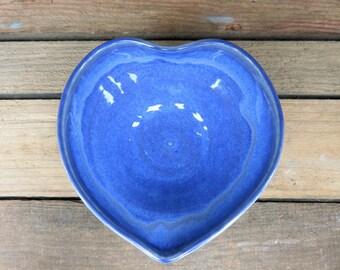 Heart Dish, Trinket Dish, Ring Dish, Blue Trinket Dish, Blue Heart, Heart Trinket Dish, Heart Ring Dish, Heart, Blue, Jewelry Dish, Bowl
