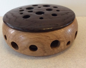 Fragrance Diffuser, hand turned, red Oak, roasted red Oak lid, scented soap, fragrance, attractive, gift