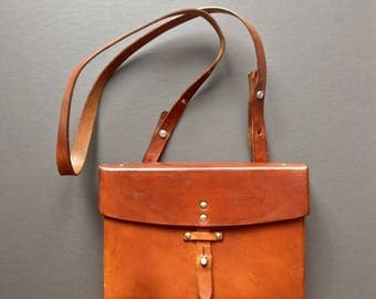 Swiss Army leather bag shoulder bag