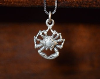 Crab #1 - 925 Silver Charm - FREE SHIPPING within USA