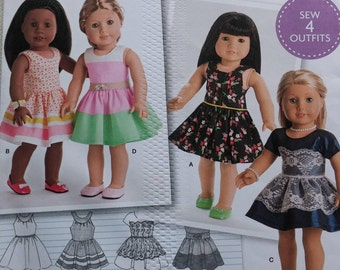 """Simplicity Pattern ~ 18"""" American Girl Doll Clothes ~ 8192"""