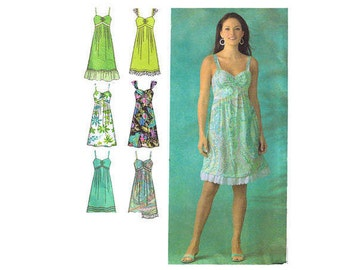Simplicity 4119 Sewing Pattern, Size 6-14 Women's Dress Spaghetti Straps Sweetheart Neckline, Ruffled Dress, Summer Dres
