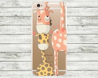 iPhone 7 giraffes case iPhone 7 Plus clear Case, iPhone 6 / 6s / 6s Plus Case, iPhone 5s  / 5 / SE Case, Hard plastic or rubber case.