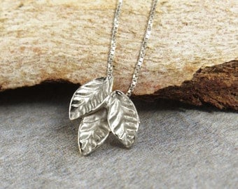Silver Leaf Necklace, Leaf Pendant Necklace, Silver Necklace, Leaf Pendant, Silver Leaf, Delicate Necklace, Silver Pendant, Leaf Necklace