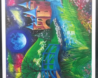 """A3 Print of """"The Castle"""" by Carla Rogers"""